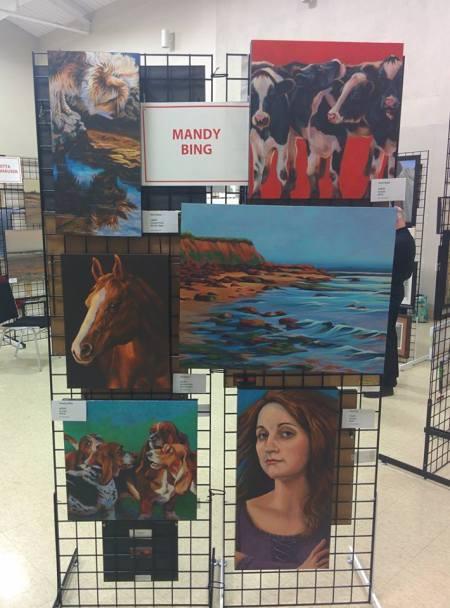 Blog Photo - Festival Mandy Bing paintings
